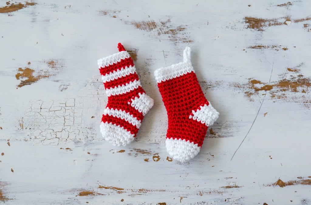 Crochet Mini Stockings Christmas Ornament Sewrella