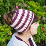 Crochet 1 hour Messy Bun Beanie