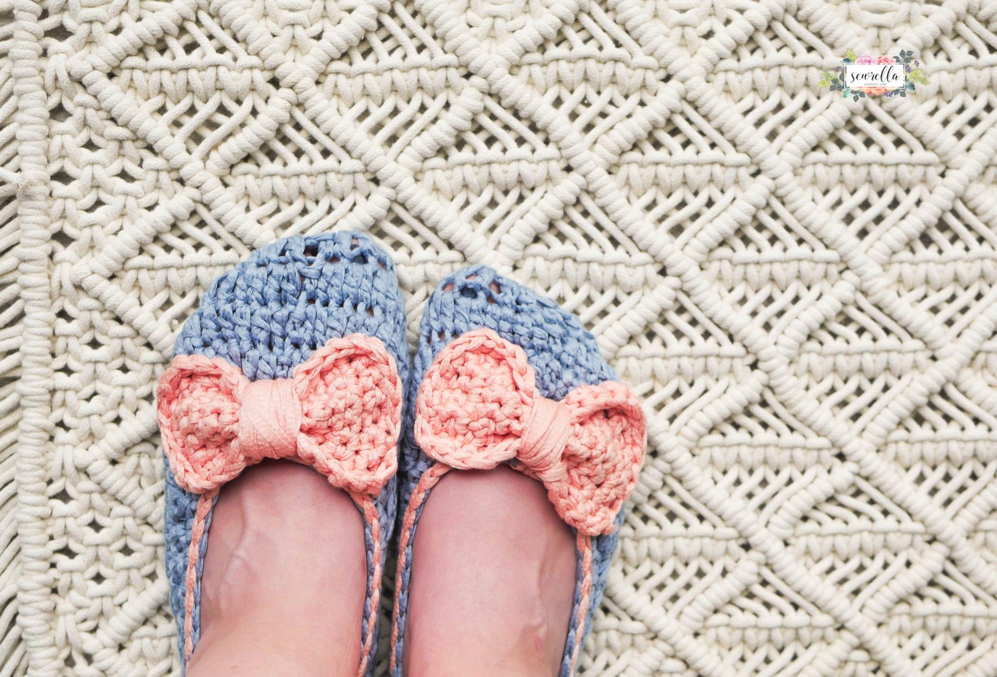 Crochet Ophelia House Slippers Sewrella