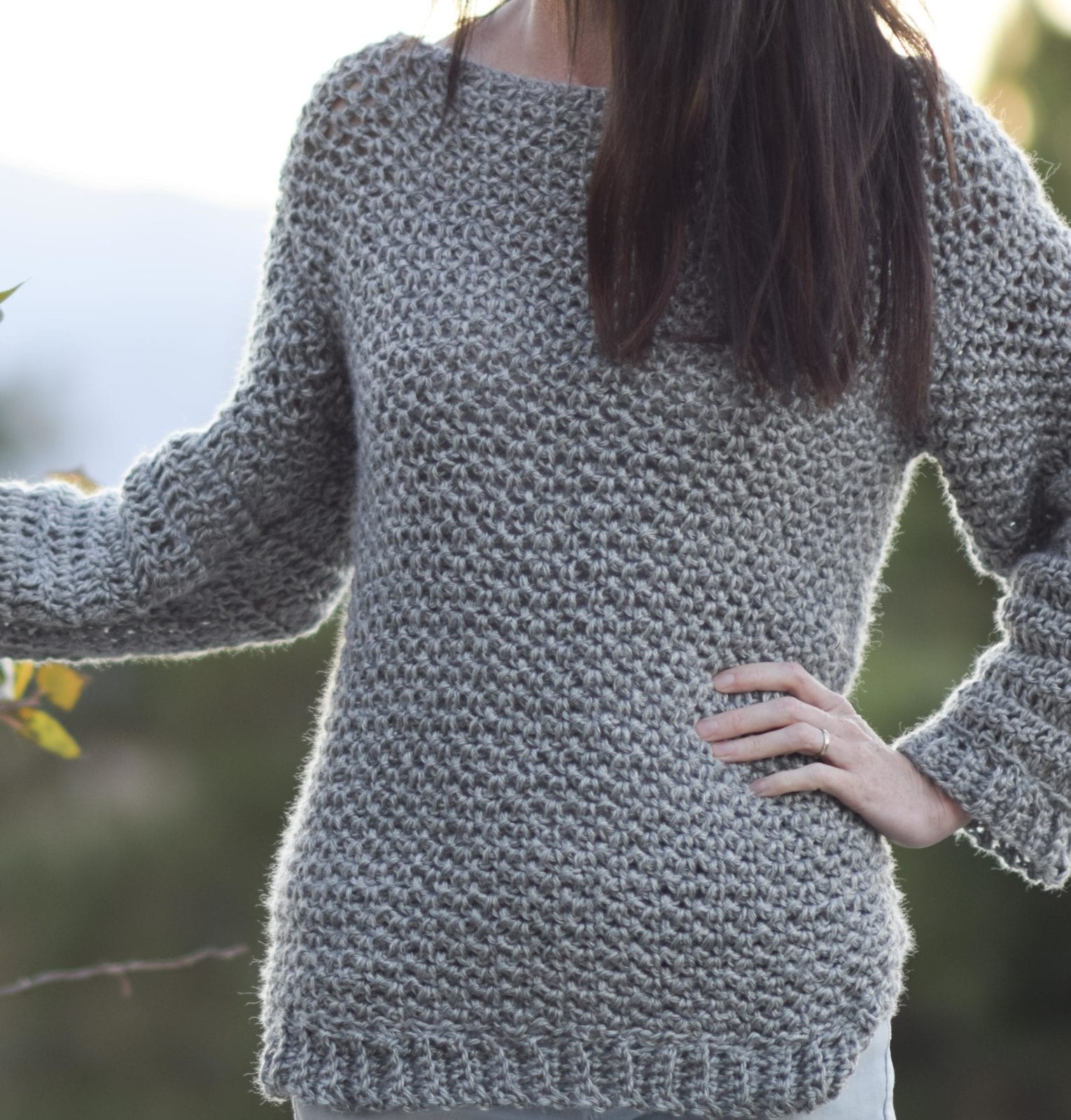 Crocheted-Sweater-Easy-Free-Pattern