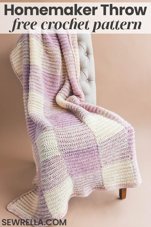 The Homemaker Crochet Throw Sewrella