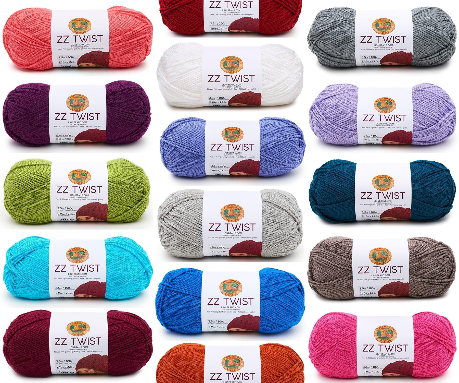 Lion Brand ZZ Twist Yarn ~ #195 Hot Pink ~ 3.5 oz100 grams ~ 246 Yards225 Meters ~ #4 Med ~ knitting, crochet