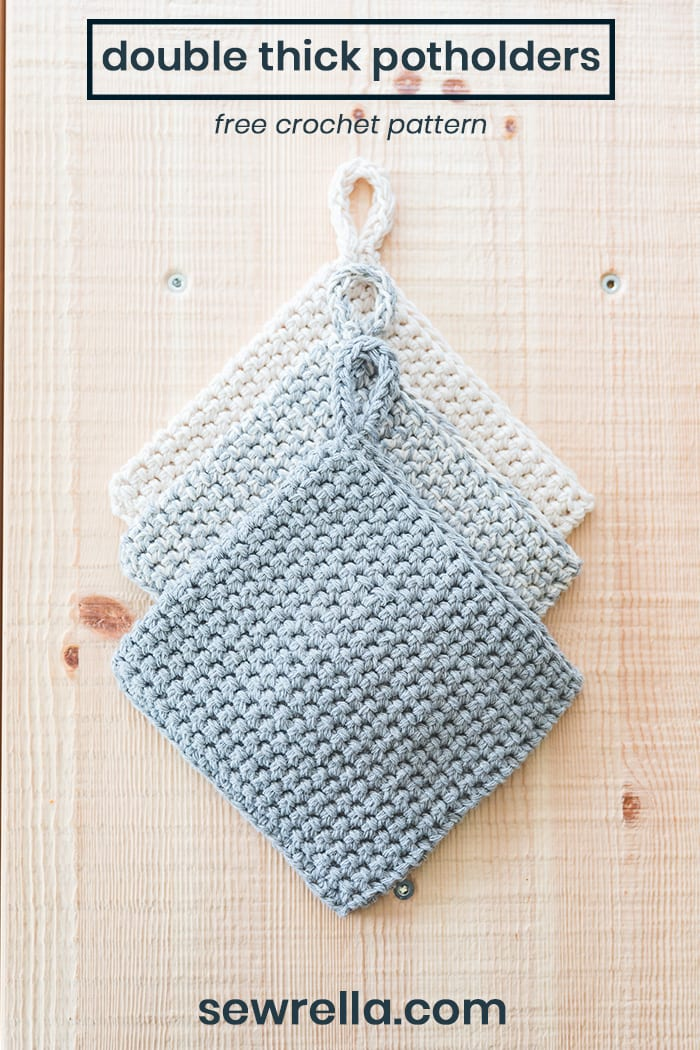 Crochet Potholders Free Pattern And Video Tutorial